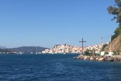 Insel Poros, Ansteuerung von Südost