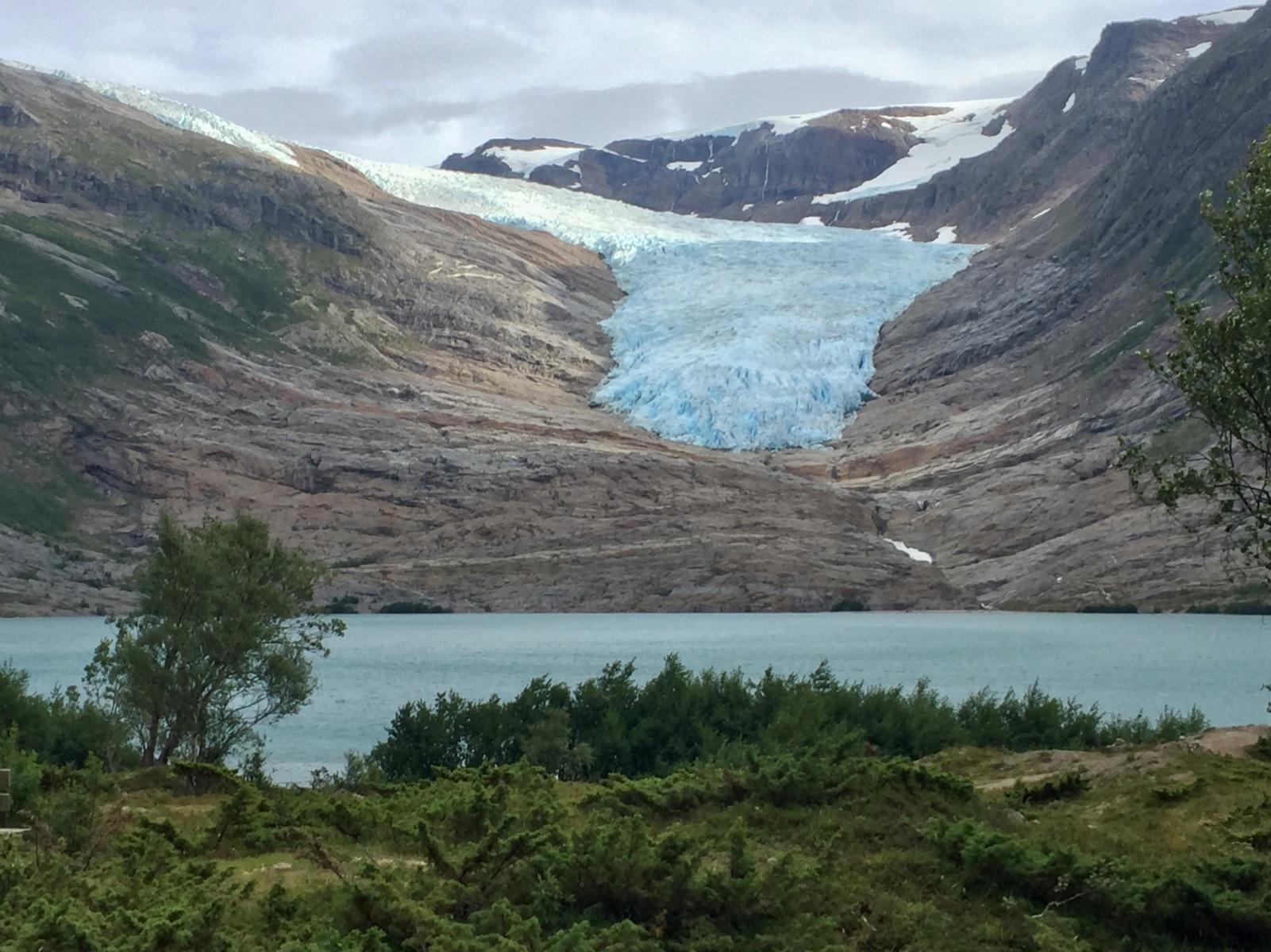 Blick auf den Svartisen-Gletscher, Glomfjord