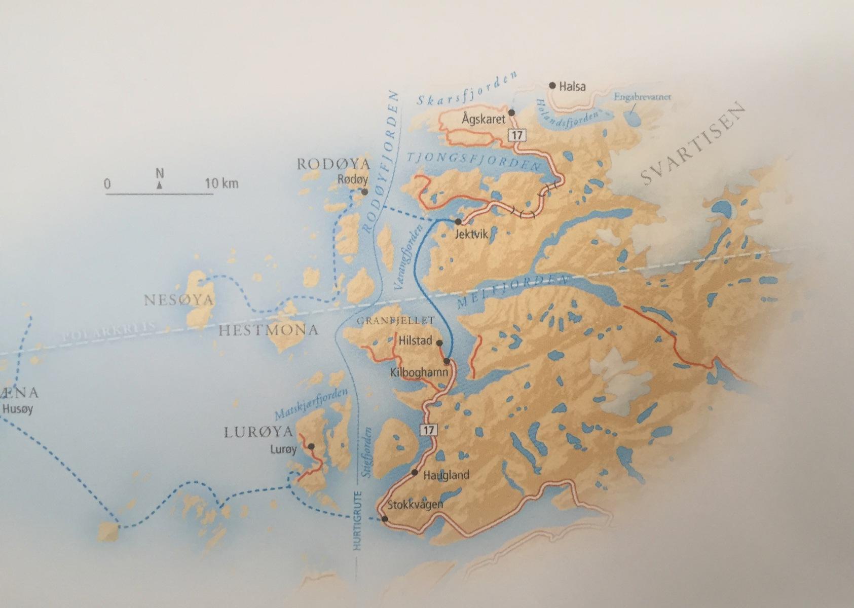 Karte Svartisen-Gletscher
